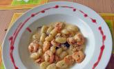Gnocchi mit Garnelen - Trüffel - Kräutersoße