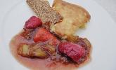 Grießschmarren mit Rhabarber - Erdbeer - Kompott