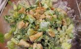 Hühnchen-Rucola-Gurken-Trauben Salat