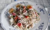 Thunfisch-Reis-Salat mit Pute und Ei