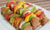 Marinierte Hähnchen - Gemüse - Spieße