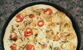 Focaccia mit Mascarpone-Gorgonzola und Knoblauch