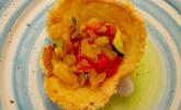 Ratatouille im Parmesankörbchen