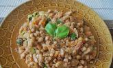 Amaranth-Hähnchen-Pfanne mit Gemüse