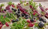 Blattsalat mit Roter Bete und Schafskäse