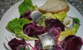 Rote Bete-Salat mit Rollmops