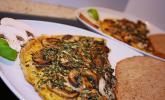 Pizza-Omelette mit Champignons