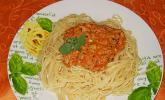Spaghetti mit Tomaten - Thunfisch - Sauce