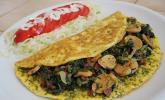 Blattspinat - Omelette