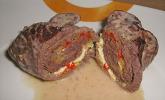 Rouladen mit Frühlingszwiebeln und Schafskäse