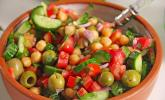 Kichererbsen - Oliven - Salat