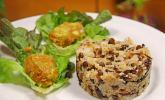 Warmer Reissalat mit Linsen