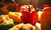 Paprika mit Geflügel-Curry-Füllung