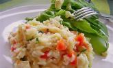 Gemüse-Hähnchen-Risotto
