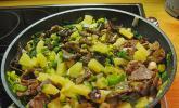 Rindfleisch mit Ananas