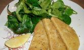 Gebackener Sellerie mit Feldsalat