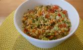 Couscoussalat mit Tomaten und Möhren