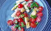 Spargelsalat mit Artischocken-Tomaten-Dressing