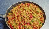 Weizengrütze mit Sucuk (Knoblauchwurst)