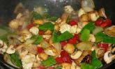 Chau Ngau Yuk - Rindfleisch mit Pilzen und Zwiebeln