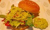 Kartoffelpuffer-Burger vegetarisch