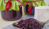 Chutney mit schwarzen Johannisbeeren und Birne