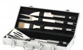Grillbesteck im Aluminium-Koffer