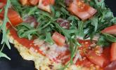 Low Carb Pizzaboden aus Blumenkohl