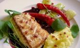 Gebratenes Skrei - Loin mit Rotweinsauce