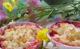 Milchreis brûlée mit Erdbeeren