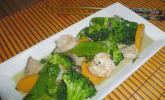 Thaicurry mit Garnelen und Süßkartoffeln