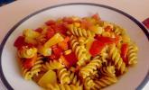 Paprika - Ananas - Mais - Nudelpfanne