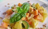 Süßkartoffelcurry mit karamellisierter Ananas