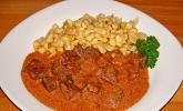 Rahmgulasch aus dem Crock Pot / Slow Cooker