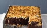 Brownies mit versunkenen Kokosstreuseln
