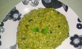 Matcha-Risotto mit Zucchini