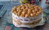 Brandteig-Erdbeer-Sahne-Torte