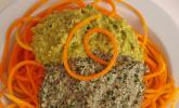 Kürbis-Spaghetti mit Pesto-Duett