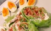 Salat-Wrap mit Räucherlachs