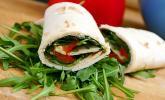 Rucola-Wrap mit Honig-Senfsauce