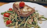Rinderfilet und Bohnensalat an Pfeffer - Vinaigrette
