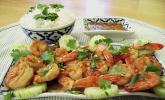 Thai - Garnelen mit Limetten - Knoblauch - Chili - Koriander - Vinaigrette