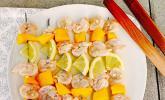 Garnelenspieße mit Mango für den Grill