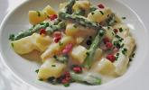 Platz 38: Bechamelkartoffeln mit Spargel