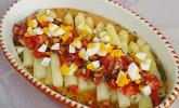 Platz 36: Spargel mit Tomaten - Vinaigrette und Ei