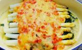 Platz 28: Spargel überbacken, mit Tomate und Spinat