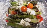 Platz 27: Chicas Feta - Päckchen mit grünem Spargel vom Grill