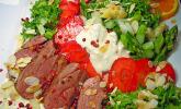Platz 21: Spargel mit Erdbeeren und Entenbrust