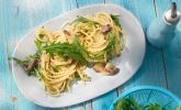 Spaghetti in Sardinen - Knoblauch - Soße mit Rucola