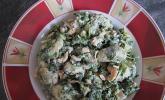 Schneller Spinat - Lachs - Topf mit Gnocchi